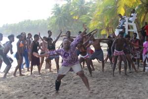 West African Dance Workshop on the Beach in Jacmel
